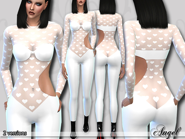 PZC_Angel Catsuit by Pinkzombiecupcakes