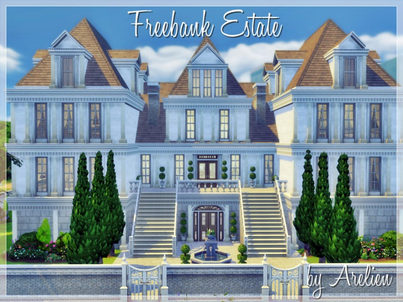 Arelien 39 s freebank estate for Classic house sims 4