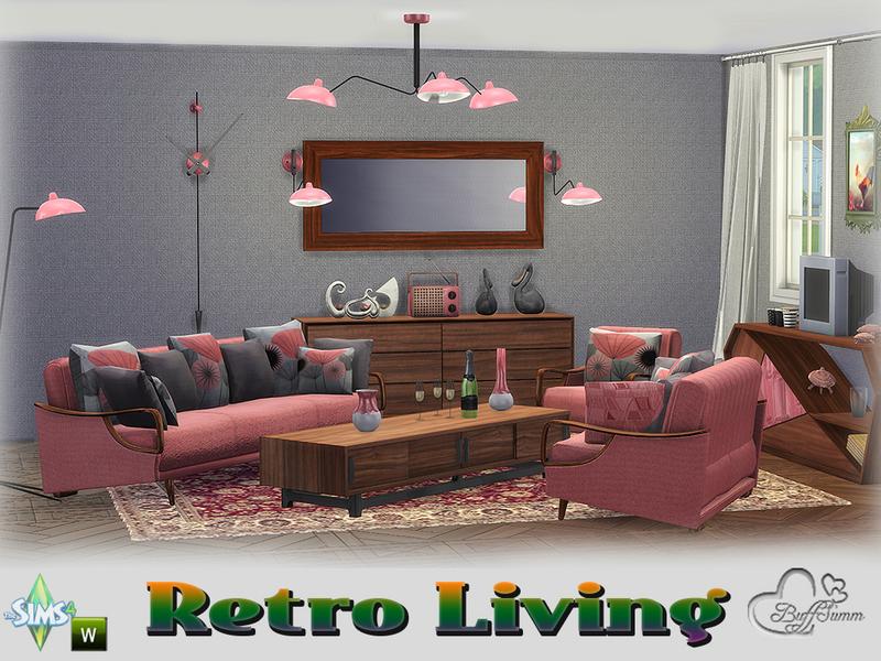 BuffSumms Retro Livingroom