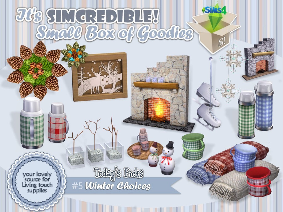 Sims 4 — Winter Choices by SIMcredible! — By request, we brought this set with 12 pieces to let your wintery houses even