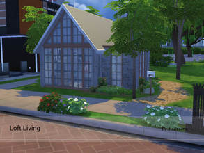 Sims 4 — Loft Living by Juulssims — Small Loft house for one or two sims. It has a bedroom, diningarea, kitchen and