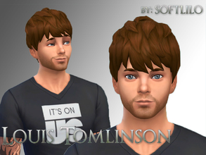 Sims 4 — Louis Tomlinson  by softlilo — Louis Tomlinson from One Direction. No sliders. No skin. No Custom Content used.