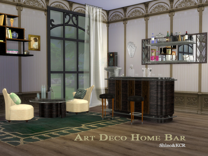 Shinokcr S Art Deco Home Bar