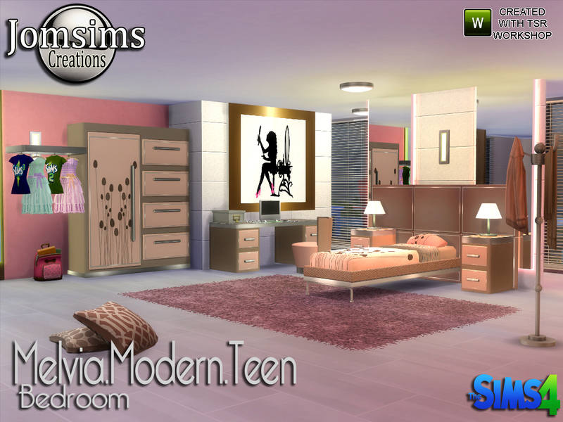 jomsims\' Melvia modern teen bedroom