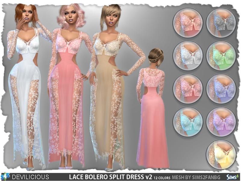 Devilicious' Lace Bolero Split Dress Set