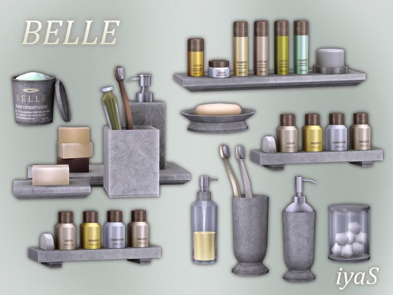 Soloriya 39 s belle cosmetics set for Bathroom decor sims 3