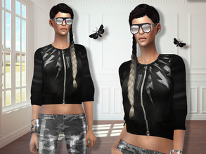 Sims 4 — MFS Amber Jacket by MissFortune — Standalone, HQ texture, custom thumbnail.
