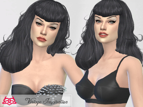 Sims 4 — Hair Bettie Page 01 by Colores_Urbanos — I'm back! Hairstyle inspired by Bettie Page! from Paraguay with love!