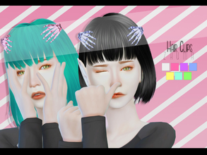 Sims 4 — Yume - Hair Clips by Zauma — Hello! New mesh for sims 4, another conversion of one of my acc in sims 3. CAS