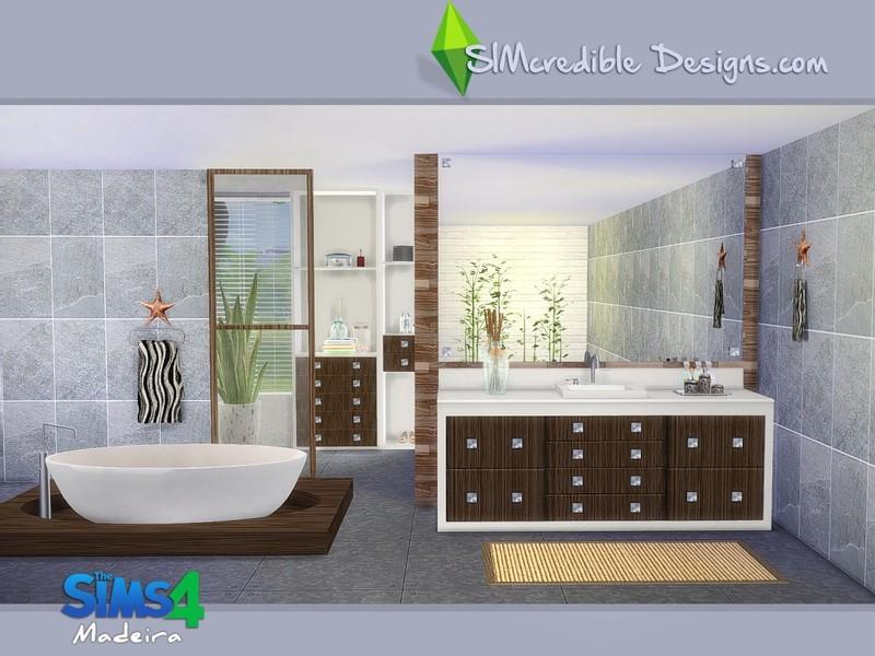 Simcredible 39 s madeira for Bathroom ideas sims 4