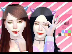 Sims 4 — Yume - Horns (acc) by Zauma — Hello! Conversion from sims 3 of my new mesh horns. Sims 3 version can be find