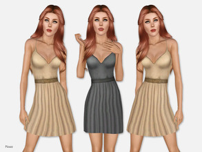 Sims 3 — Summer Carefree Dress by pizazz — A great simple carefree dress made of soft cotton. It's comfortable and