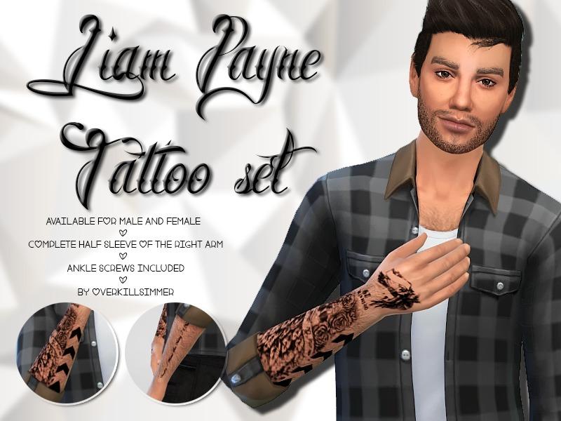 Overkill Simmer's Liam Payne Tattoo set