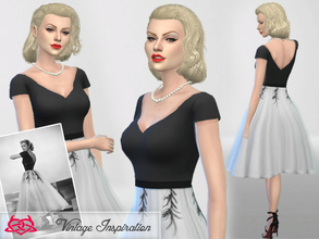 Sims 4 — Hair Grace Kelly 01 by Colores_Urbanos — Hairstyle inspired by Grace Kelly! from Paraguay with love!