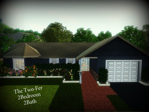 Sims 3 — The Two-Fer -- 2BR, 2BA by sweetpoyzin2 — The Two-fer will have you seeing double! Two bedrooms, two bathrooms,