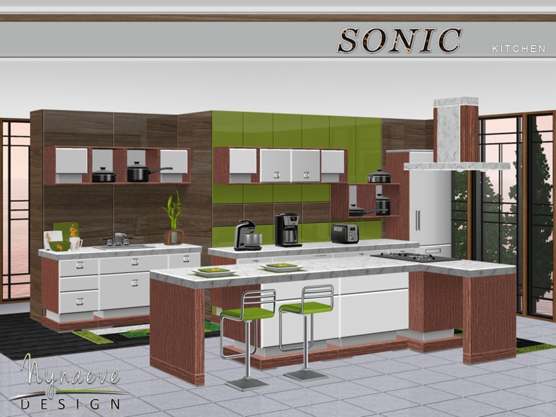Nynaevedesign 39 s sonic kitchen for Sims 3 kitchen designs