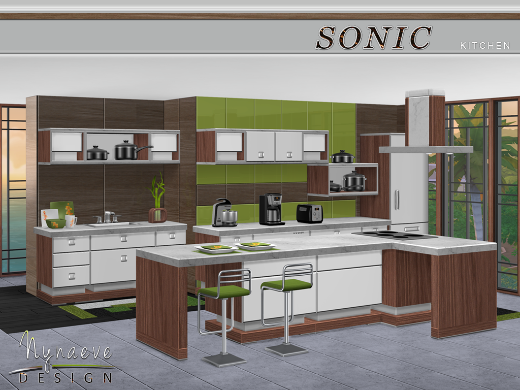 Round kitchen island sims 4 kitchen design tumblr for Sims 3 kitchen designs