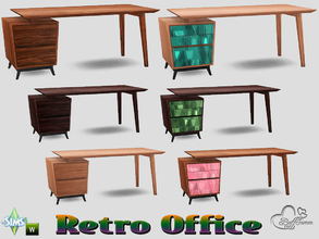 Retro Office Desk (Left Sided)