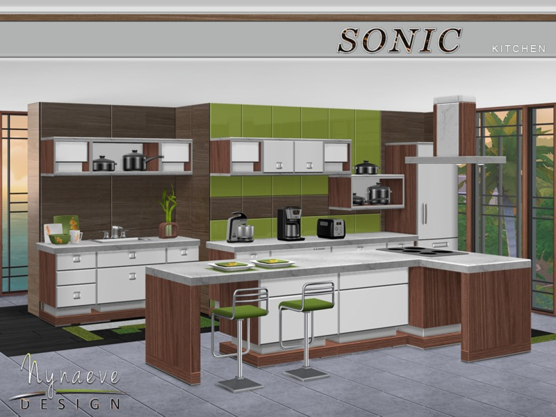 Nynaevedesign 39 s sonic kitchen for Sims 3 kitchen ideas