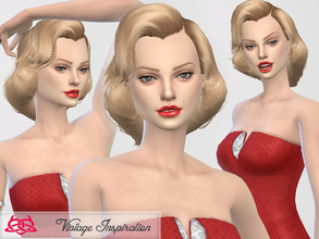 Sims 4 — Hair Marilyn Monroe 01 by Colores_Urbanos — inspired by Marilyn Monroe in How To Marry a Millionaire. 1953 new