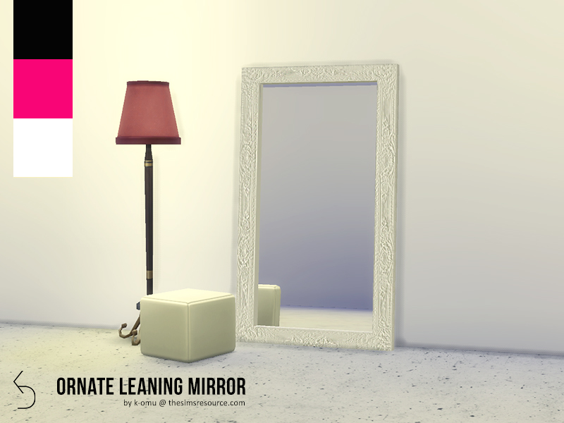 K Omu S Ornate Leaning Mirror