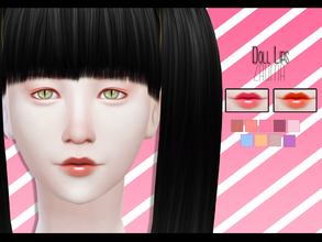 Sims 4 — Yume - Doll Lips by Zauma — Hello! Some dolly lips for females, avaliables on 09 colors. Look better with pales
