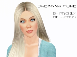 Sims 3 — Breanna Hope by Prickly_Hedgehog — Breanna moved to Simland to find her perfect mate. She's blonde with aqua