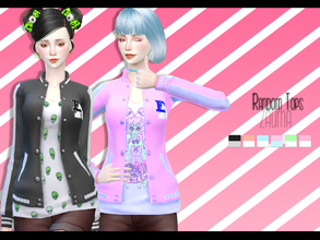 Sims 4 — Yume - Random Tops by Zauma — Hello! New recolors of a base game mesh, strike jackets with t-shirt with