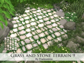 Sims 4 — Grass and Stone Terrain 9 by Pralinesims — By Pralinesims