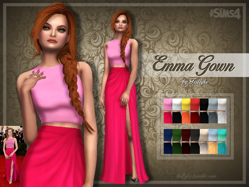 Trillyke - Emma Gown - mesh needed