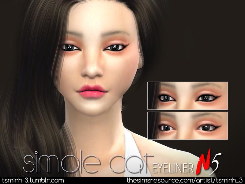 TsminhSims' Simple Cat Eyeliner
