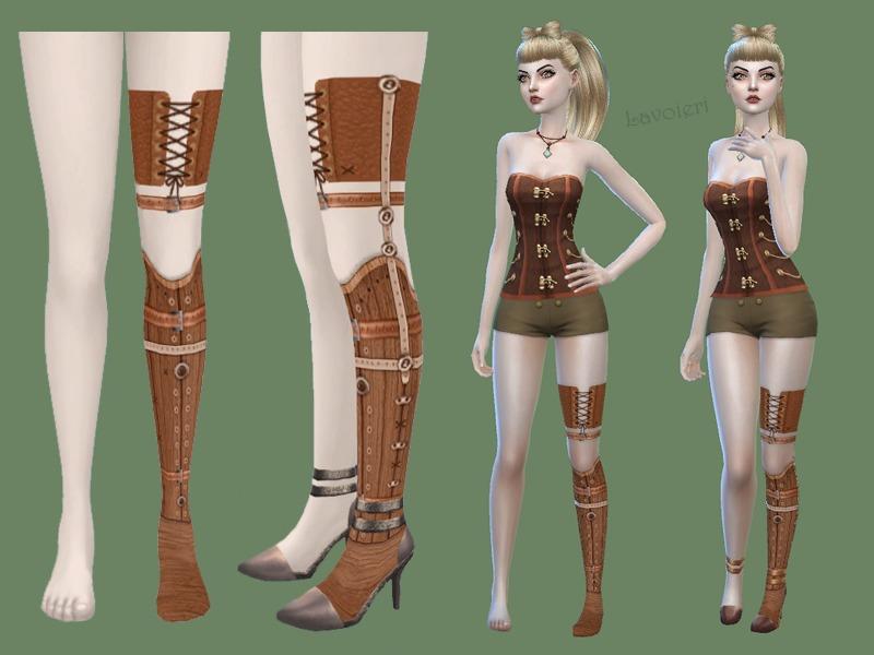 Lavoieris Wooden Leg Prosthesis