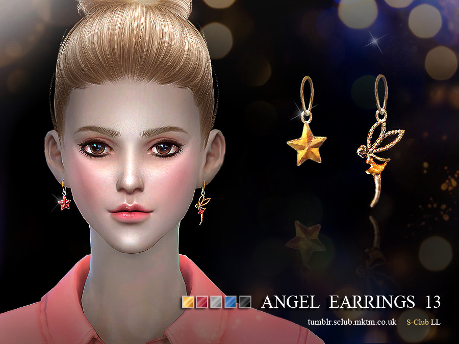 S-Club LL ts4 earring 13(f)  for Sims 4