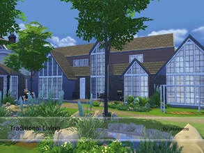 Sims 4 — Traditional Living by Juulssims — A large family home in a traditional style. The inside is slightly modern, yet
