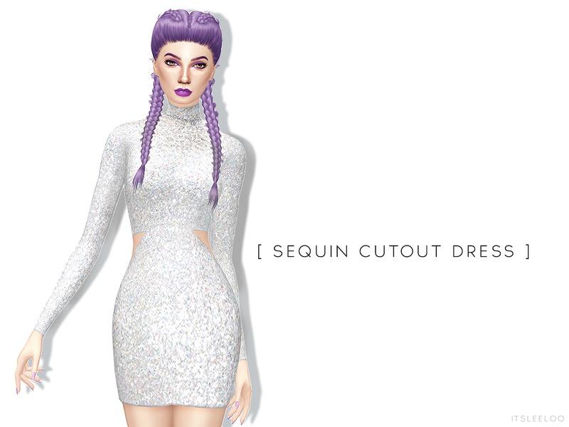 701d8fd3 itsleeloo's Sequin Cutout Dress
