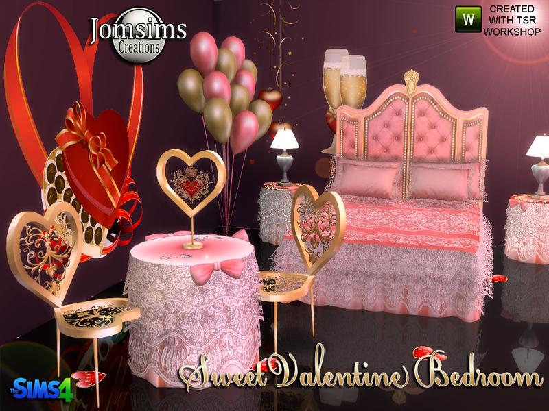 Valentine Bedroom jomsims' sweet valentine bedroom