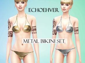 f06e57e576 Echoehver Metal Bikini Set