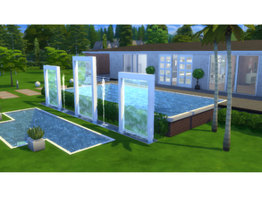 Sims 4 — Villa Fahsbender by Frapi — HOME WITH A BEAUTIFUL NEW YORK SENSATION, BUILT WITH MODERN AND NATURAL ELEMENTS.