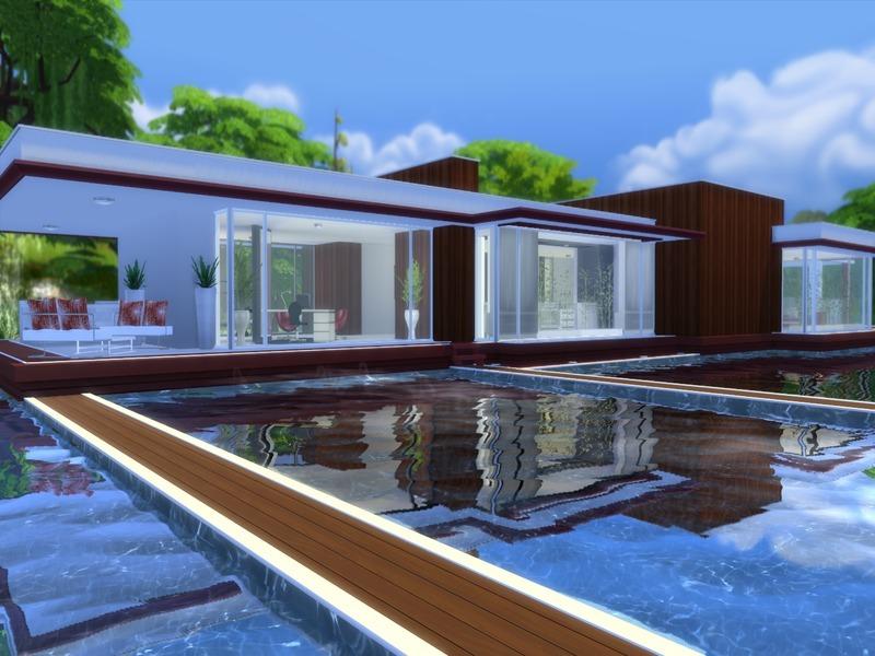 suzz86 39 s modern pool house. Black Bedroom Furniture Sets. Home Design Ideas