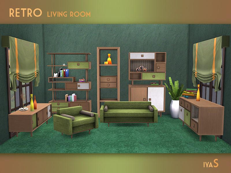 Soloriya 39 s retro living room for Vintage style living room furniture