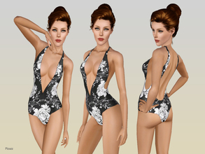 Sims 3 — Modest Swimsuit by pizazz — A lovely swimsuit for your sims to sport around the beach. Look amazing while not