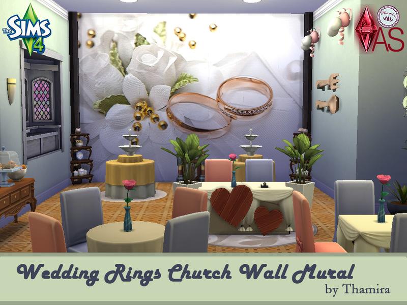 Thamira 39 s wedding rings church wall mural for Church wall mural