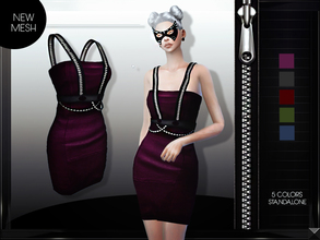 Sims 4 — MFS Kelly Dress by MissFortune — NEW MESH, Standalone, custom thumbnail, 6 colors.