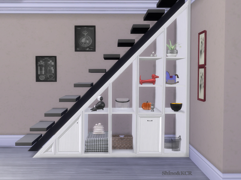 shinokcr 39 s under stair shelves and deco spiralstair. Black Bedroom Furniture Sets. Home Design Ideas