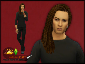 Sims 4 — Adam V. 01 by Solny — Just an one more handsome man. He dreams of love and wants to meet someone who is still