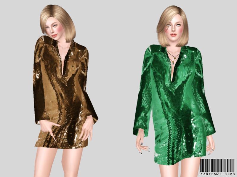 5426100ce44a KareemZiSims' Sequin Jacket Dress