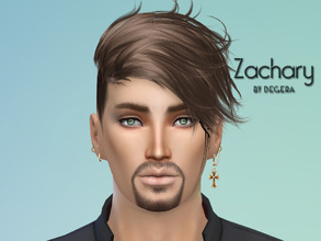 Sims 4 — Zachary by Degera — Zachary may seem vain because he's obsessed with having the perfect body. Cheerful,