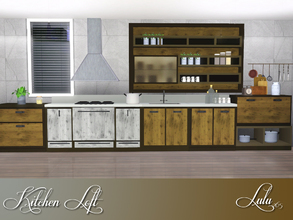 Sims 3 — Kitchen Loft by Lulu265 — Kitchen Loft is modern kitchen design. Solid wood and wooden materials, metal and