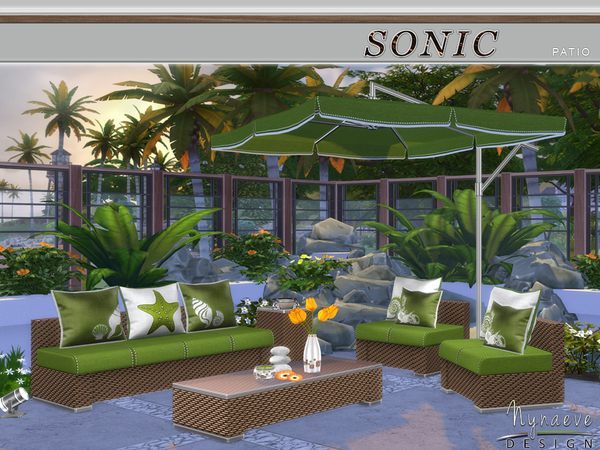 Nynaevedesign 39 s sonic patio for Indoor gardening sims 4