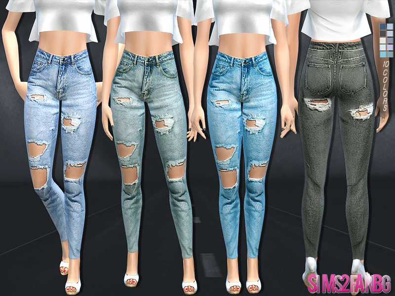 0b473fd0917 Sims 4 Downloads - 'ripped jeans'